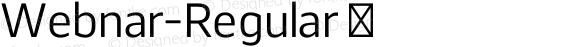 Webnar-Regular ☞