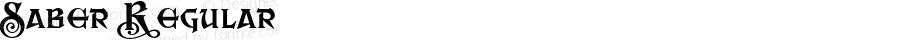 Saber Regular Macromedia Fontographer 4.1.4 7/26/02