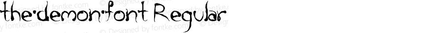 the·demon·font Regular Unknown
