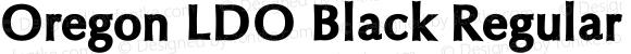 Oregon LDO Black Regular Version 1.000;PS 001.000;hotconv 1.0.38