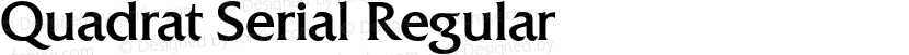 Quadrat Serial Regular Preview Image