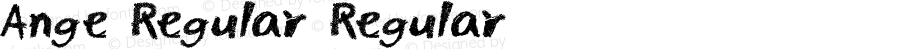 Ange Regular Regular Macromedia Fontographer 4.1J 02.7.8
