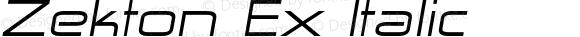 Zekton Ex Italic Version 4.001