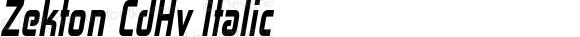 Zekton CdHv Italic Version 4.001