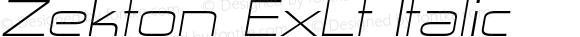 Zekton ExLt Italic Version 4.001