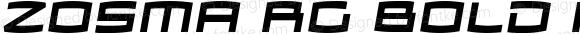 Zosma Rg Bold Italic Version 2.000