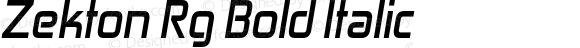 Zekton Rg Bold Italic Version 3.000