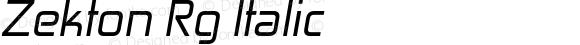 Zekton Rg Italic Version 4.001