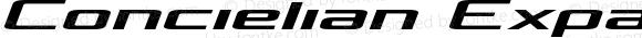 Concielian Expanded Semi-Italic Expanded Semi-Italic