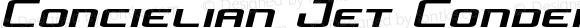 Concielian Jet Condensed Semi-Italic Condensed Semi-Italic