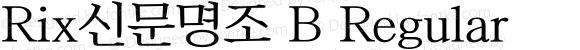 Rix신문명조 B Regular Version 1.00 for NHN.