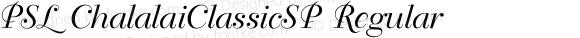 PSL ChalalaiClassicSP Regular Series 1, Version 3.1, for Win 95/98/ME/2000/NT, release November 2002.