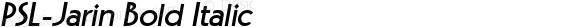 PSL-Jarin Bold Italic 1.0 Mon Mar 24 22:02:19 1997