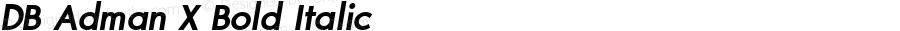 DB Adman X Bold Italic Version 3.100 2007