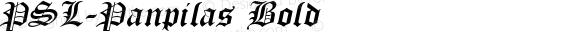 PSL-Panpilas Bold 1.0 Mon Mar 24 22:06:21 1997