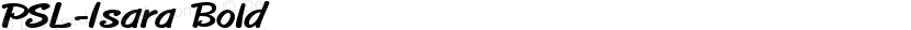 PSL-Isara Bold Preview Image