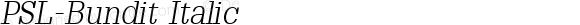 PSL-Bundit Italic 1.0 Mon Mar 24 21:50:29 1997