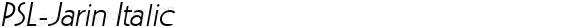 PSL-Jarin Italic 1.0 Mon Mar 24 22:03:03 1997