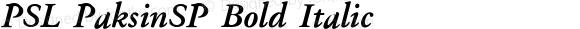 PSL PaksinSP Bold Italic Series 1, Version 3.1, for Win 95/98/ME/2000/NT, release November 2002.