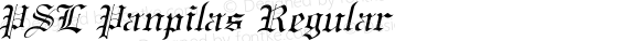 PSL Panpilas Regular Version 2.5, for Win 95, 98, NT; release October 1999