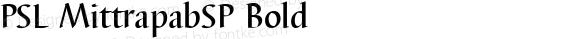 PSL MittrapabSP Bold PSL Series 3, Version 1.5, release November 2002.