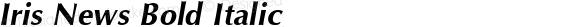 Iris News Bold Italic preview image