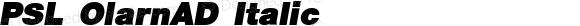 PSL OlarnAD Italic Series 3, Version 1.5, release September 2002