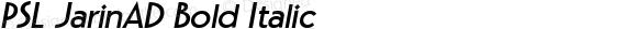 PSL JarinAD Bold Italic Series 2, Version 3.5.1, release September 2002.