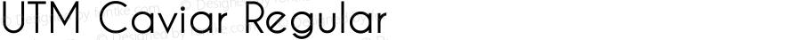 UTM Caviar Regular Bộ Font chữ Việt sử dụng bảng mã Unicode