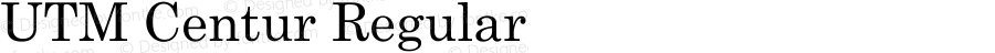 UTM Centur Regular Bộ Font chữ Việt sử dụng bảng mã Unicode