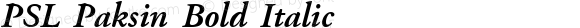 PSL Paksin Bold Italic Version 2.5, for Win 95, 98, NT; release October 1999