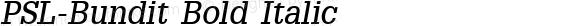PSL-Bundit Bold Italic 1.0 Thu Feb 13 17:14:43 1997
