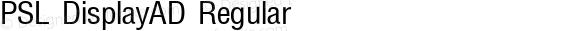 PSL DisplayAD Regular Series 1, Version 3.5.1, release September 2002.