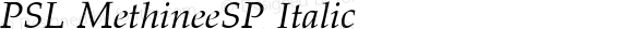 PSL MethineeSP Italic PSL Series 3, Version 1.5, release November 2002.