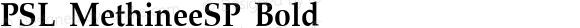 PSL MethineeSP Bold PSL Series 3, Version 1.5, release November 2002.