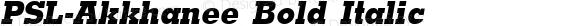 PSL-Akkhanee Bold Italic 1.0 Mon Mar 24 21:40:53 1997