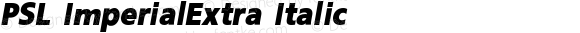 PSL ImperialExtra Italic Version 2.5, for Win 95, 98, NT; release October 1999