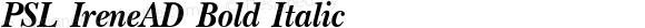 PSL IreneAD Bold Italic Series 1, Version 3.5.1, release September 2002.