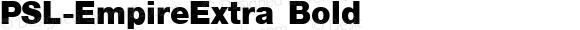 PSL-EmpireExtra Bold 1.0 Mon Mar 24 22:01:10 1997