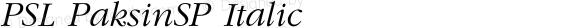 PSL PaksinSP Italic Series 1, Version 3.1, for Win 95/98/ME/2000/NT, release November 2002.