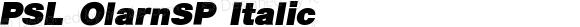 PSL OlarnSP Italic PSL Series 3, Version 1.0, release November 2000.