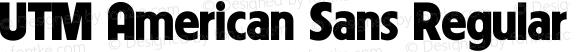 UTM American Sans Regular Bộ Font chữ Việt sử dụng bảng mã Unicode