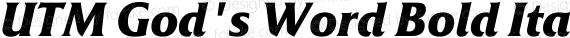 UTM God's Word Bold Italic preview image