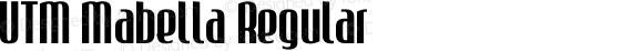 UTM Mabella Regular Bộ Font chữ Việt sử dụng bảng mã Unicode