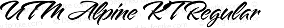 UTM Alpine KT Regular Bộ Font chữ Việt sử dụng bảng mã Unicode