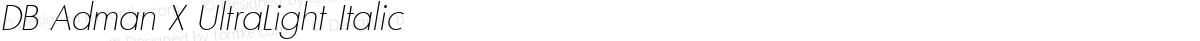 DB Adman X UltraLight Italic