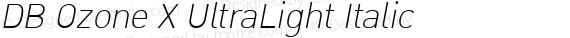 DB Ozone X UltraLight Italic preview image
