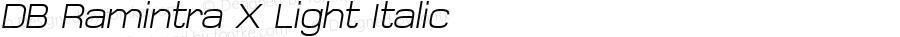 DB Ramintra X Light Italic Version 3.100 2007