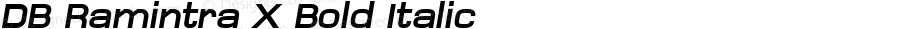 DB Ramintra X Bold Italic Version 3.100 2007