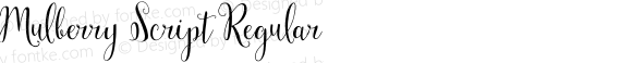 Mulberry Script Regular